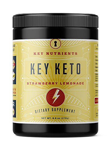 KEY NUTRIENTS Exogenous Ketone Supplement, KEY KETO Patented BHB Salts (Beta-Hydroxybutyrate) - Formulated for Ketosis, to Burn Fat, Increase Energy and Focus. Strawberry Lemonade (278g)