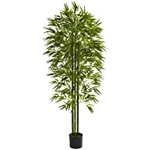 Nearly Natural 5386 Bamboo UV Resistant Tree, 6-Feet, Green