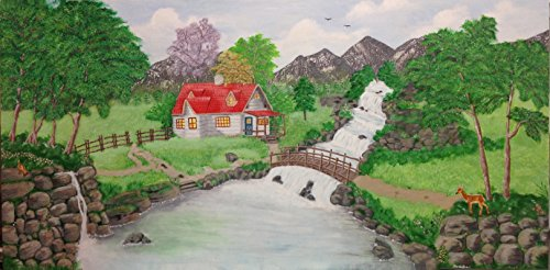 Price comparison product image Beautiful Acrylic Handmade Natures Canvas Painting Made By Artist