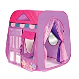 PIGLOO™ Girl's Beauty Boutique Pop Up Play Tent Playhouse Playhut for Indoor Outdoor Use