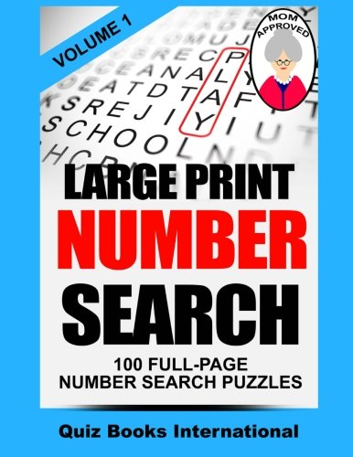 Large Print Number Search Edwards product image
