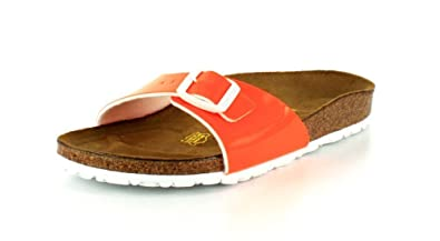 Birkenstock Madrid Unisex-Adults' Sandals Neon Orange Patent Birko-flor - 3/
