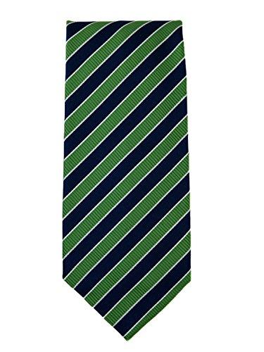 Robert Jensen Finest Silk Handmade Men's Neck Tie - Mogador - Seahawk Twelfth Fan (Green and Blue)