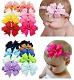 Toptim Baby Girl's Headbands and Hair Bows for Photographic Accessories (20 Pieces)