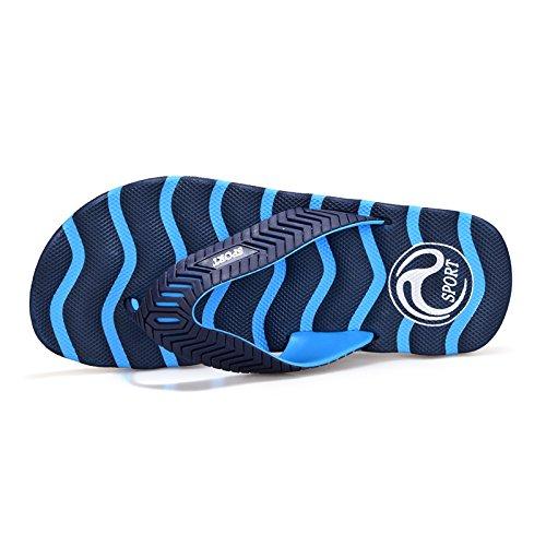 MONAcwe Flip Flops Sandalen Hausschuhe Sommer Große Größe Hausschuhe Männer rutschfeste Flip Flops Herren Strand Schuhe jeden Tag Bad Hausschuhe Männer Dunkelblau