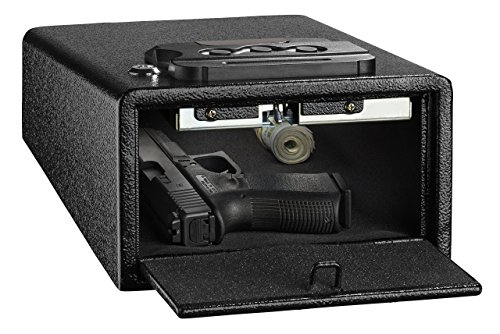 AdirOffice Pistol Safe - Electronic, Easy to Install, Heavy Duty Storage for Firearms Cash Jewelry Documents & More - for Home Office Hotel Use (Black, ()
