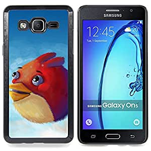 """Qstar Arte & diseño plástico duro Fundas Cover Cubre Hard Case Cover para Samsung Galaxy On5 O5 (Angry Birdz"""")"""
