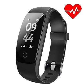 Aneken Pulsera Actividad Pulsera Inteligente Smart Bracelet Tracker con Monitor de Ritmo Cardíaco Activity Tracker Bluetooth Podómetro con Sleep ...