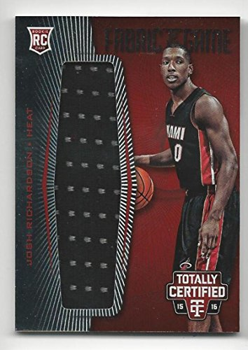 2015-16 Totally Certified Rookie Fabric of the Game Jerseys Red Josh Richardson #FRJJR NM Near Mint RC Rookie MEM 154/199