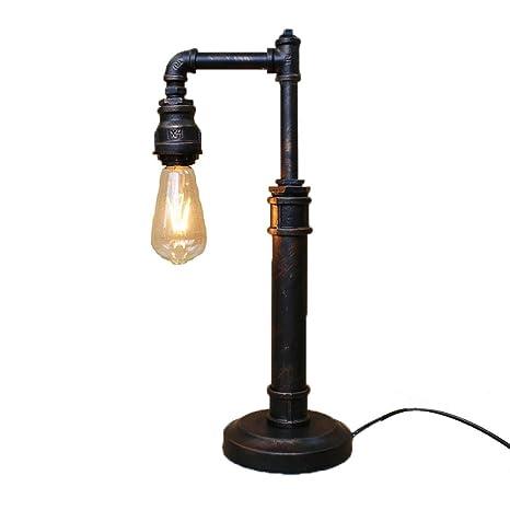 Pointhx Lampada Da Tavolo Tubo Di Acqua Ferro Industriale