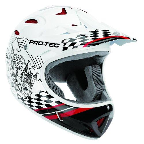 Pro-tec Shovelhead 2 Mullet1 Bike Helmet, White/Black, X-Large
