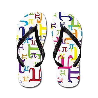 CafePress - Pieces of Pi Flip Flops - Flip Flops, Funny Thong Sandals