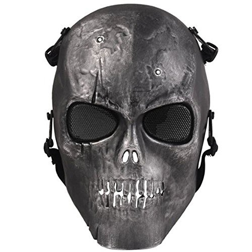 Airsoft Protective Mask Skull Skeleton Full Face Protect Safety Mask Army Airsoft Paintball Safety Paintball Gear