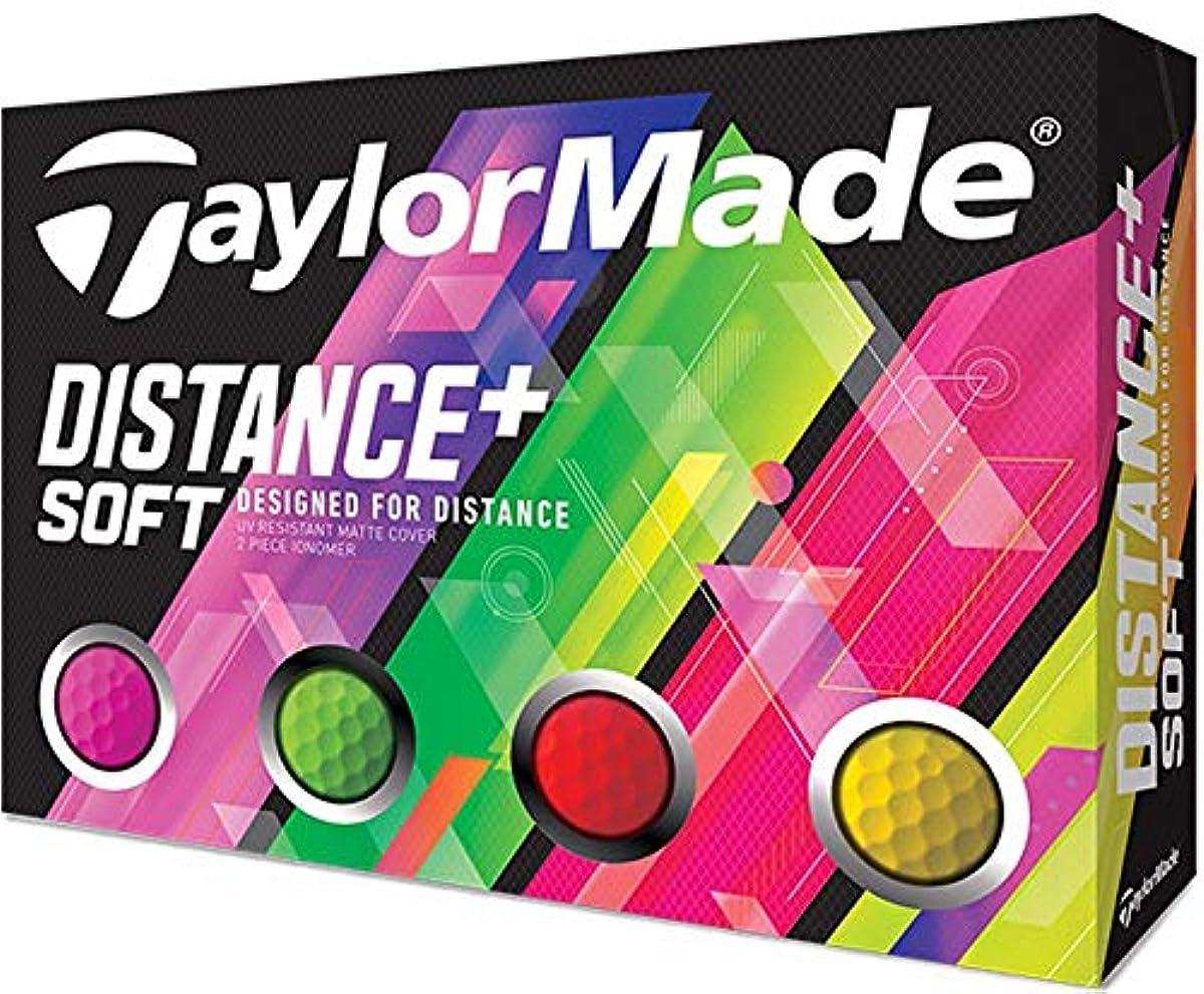 [해외] 테일러메이드(TAYLOR MADE) 골프 볼 DISTANCE DISTANCE+SOFT 12P 맨즈 M7174701 멀티 컬러