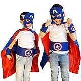 Captain America Costume Child   Superhero Cape Set   7 Items in Package
