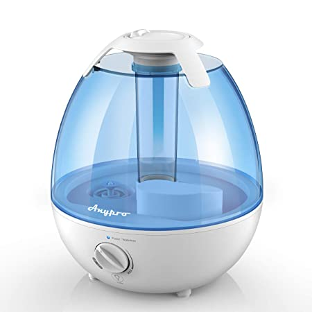 Quiet Cool Mist Humidifier Anypro 3.5L Ultrasonic Humidifier with Low High Mist Levels, Optional 3-Timing Settings and Night Light Mode, Humidifiers for Bedroom with Auto Shut-off Function