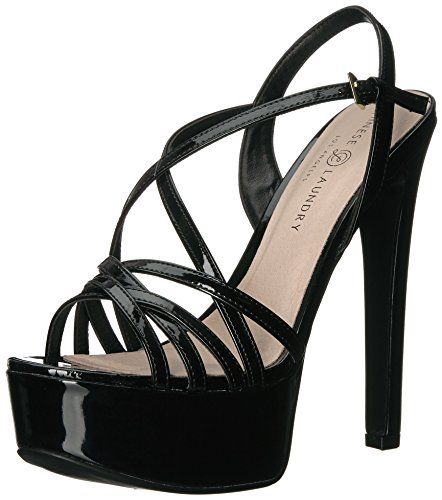 Chinese Laundry Women's Teaser 2 Heeled Sandal, Black Patent, 7 M US