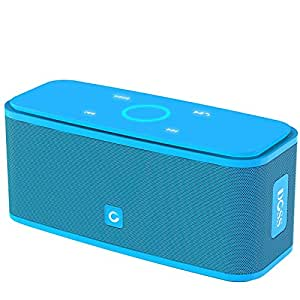 Bluetooth Speaker DOSS SoundBox, Portable Wireless Bluetooth 4.0 Touch Speakers with 12W HD Sound and Bold Bass, Handsfree, 12H Playtime for Phone,TV, Tablet, Gift Ideas[Blue]