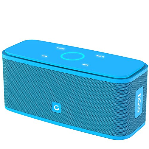 Altavoz Bluetooth DOSB SoundBox, Altavoces portátiles inalámbricos Bluetooth 4.0 con sonido de 12 W HD y Bold Bass, Manos libres, Tiempo de juego 12H para teléfono, tableta, TV, Ideas de regalos [Azul]