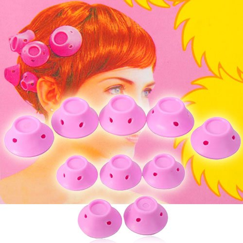 Hair Rollers woman's Curler - Pink 10pcs Set Two Size -  Thailand, CHI-Heal-NUM34902