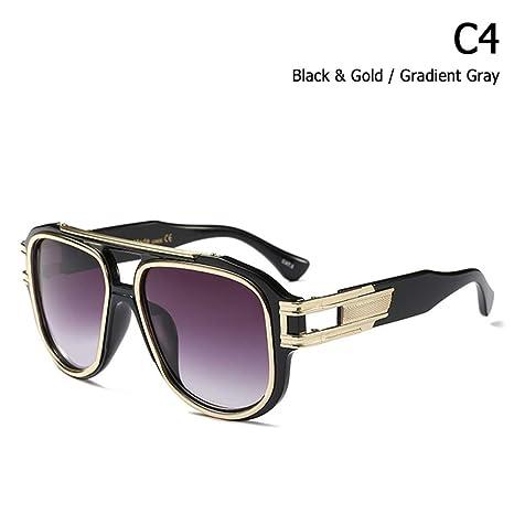 ZHOUYF Gafas de Sol Moda Hip Hop Grandmaster Six Gradient ...