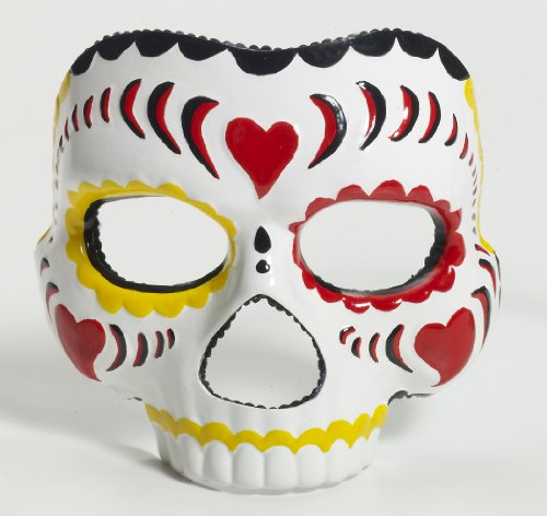[Forum Novelties Women's Day Of The Dead Female Mask, Multi, One Size] (All Saints Day Costumes For Adults)