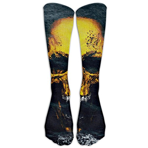 (Novelty Casual Long Socks Pacific Ocean Skull Patterned Comfortable Warmer Stockings 1 Pair For Women & Men Sport High)