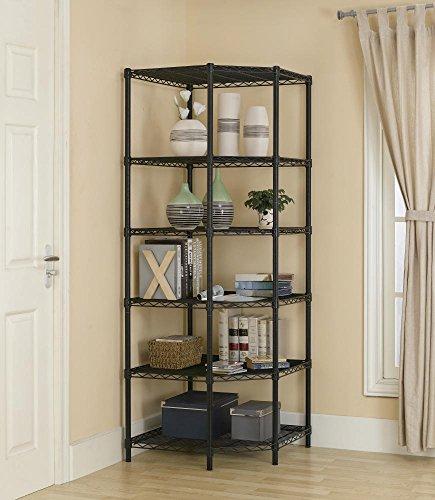 Bestoffice New Heavy Duty Wire Steel 6 Tier Corner Shelf