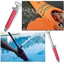Kayak Pump 46cm Hand Pump Floating Bilge Pump for Kayak Rescue Red