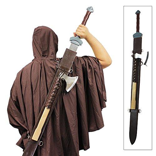 (VikingKnights Thor's Champion Sword & Axe Set Winter's Bite Officially Licensed)