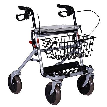Deambulatore Rollator Pieghevole Con Sedile Carrello Per Anziani In