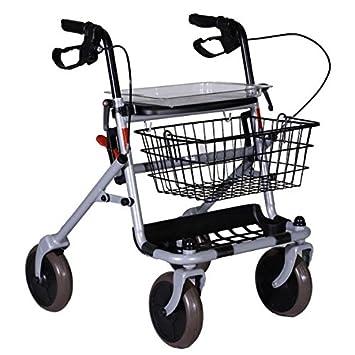 RO7 - Andador con ruedas plegable + asiento para ancianos ...
