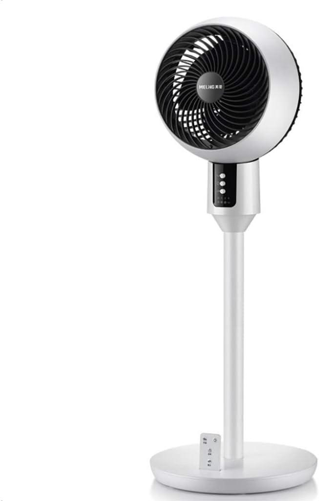 Ventilador silencioso blanco, ventilador de circulación de aire con control remoto y temporizadores, ventilador de pedestal de pie oscilante, 3 configuraciones de velocidad, aire acondicionado de vent