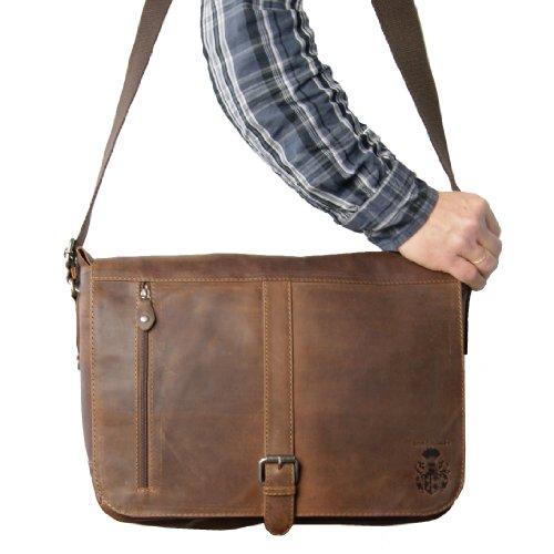 BARON de MALTZAHN Bolso de bandolera FRANKLIN de cuero marrón