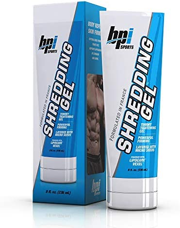 BPI Sports Shredding Gel – Topical Gel – Skin Firming, Toning, Muscle Definition, Reduce Cellulite – Bodybuilding – Clinically Dosed Patented Ingredients – 6 Pack Abs – For Men & Women – 8 fl. oz 1