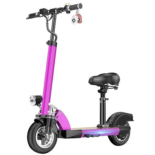 HOPELJ Patinete Eléctrico, Plegable Ajustable Scooter ...