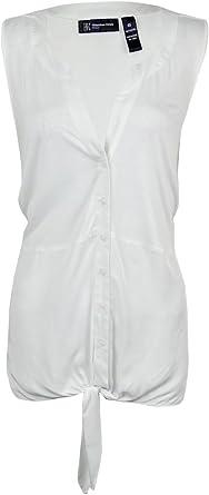 INC International Concepts Women/'s Tie-Front Sleeveless Top