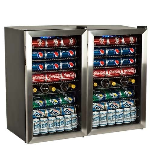 Find Bargain EdgeStar BWC120SSDUAL 206 Can and 10 Bottle Side-by-Side Ultra Low Temp Dual Unit Bever...