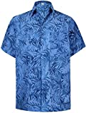 LA LEELA Cotton Point Collar Beach Shirt Royal Blue 625 Small | Chest 38'' - 40''