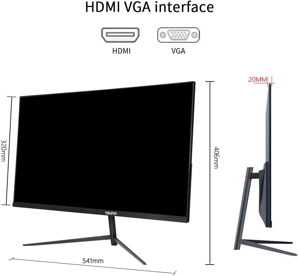 Thinlerain - Monitor 24 Pulgadas 144 Hz, Full HD 1920 x 1080 LED Monitor Gaming, (2 ms, HDMI/VGA), Color Negro: Amazon.es: Electrónica