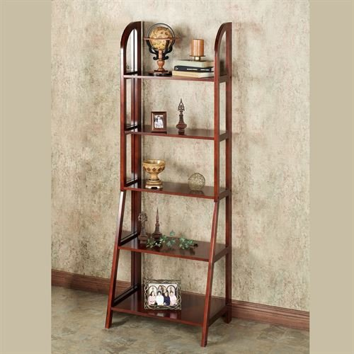 Touch of Class Kimber Tall Ladder Shelf Only Classic Cherry 5 Shelf (Classic Concepts California Furniture)