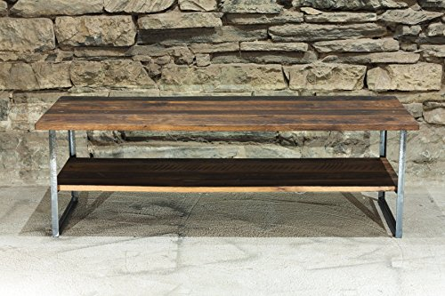 The Ember Coffee Table | Free Shipping | Reclaimed Wood | Industrial Metal Base