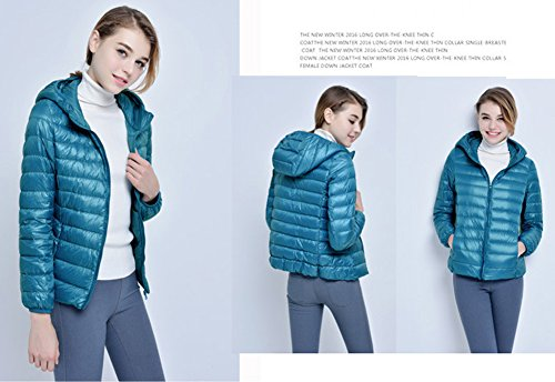 Winter Peacock with Puffer Down Available Hooded Jack Lightweight Color Jacket Packable Womens 11 Santimon OqAU5wIRw