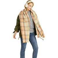 LLZK Cashmere d'imitazione reticolo sciarpa Addensare scialle bavaglino Doppio Uso,Sezione Lunga Autunno Inverno Uomini…
