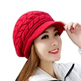 Download Tenworld Hat Winter Beanies Knitted Rabbit Fur Cap (Watermelon Red) in PDF ePUB Free Online