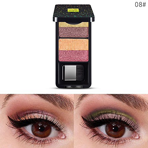 - FORUU Women's Eyeshadow, 2019 Valentine's Day Surprise Best Gift For Girlfriend Lover Wife Party Under 5 Free delivery 4 Color Pan Golden Onion Powder Pearl Luster Subgloss Lasting Eyesha