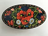 "Decorative Box Souvenir Handmade Jewerly Wooden Painted Petrikivka Ukrainian ""Poppies"" for women"