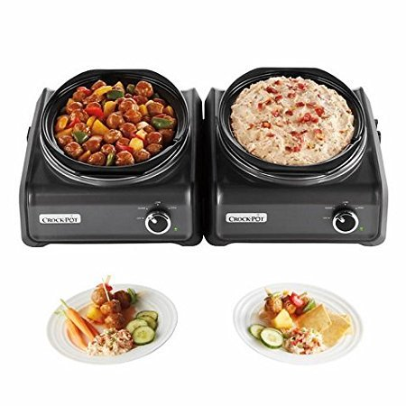 Crock-Pot Hook Up Connectable Entertaining System 2-Piece Set, Metallic Charcoal (Hookup Crock Pot compare prices)