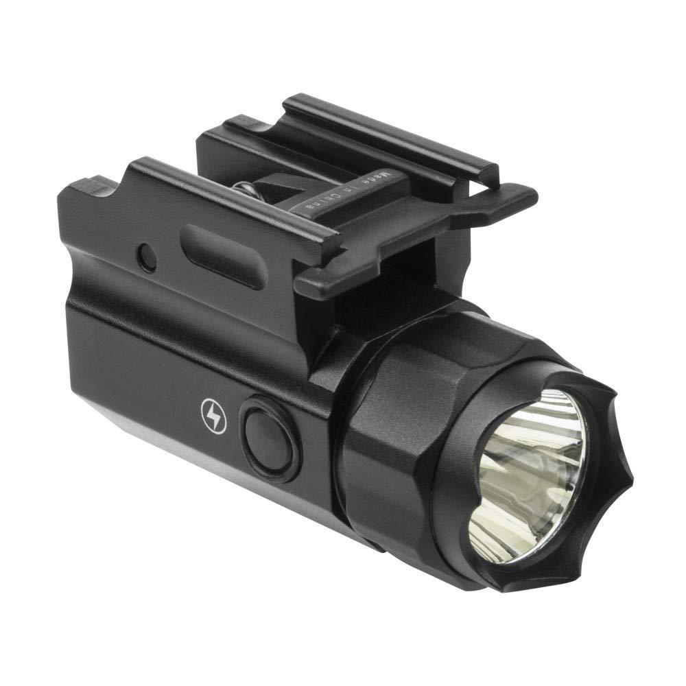 m1surplus Compact Size Tactical LED Flashlight with Defensive Strobe Function fits Glock 19X G19X SIG SAUER P320 M17 CZ P-07 P-09 P-10 Pistols
