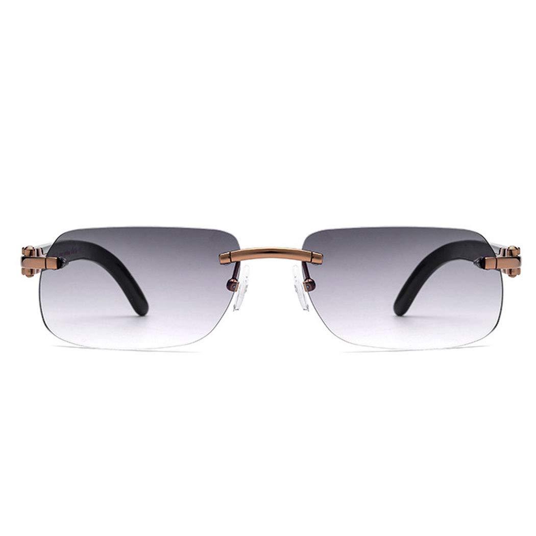 HONGNA Horns Sunglasses Precious White Horns Legs High-end Sunglasses Anti-UV Sunglasses Men Outdoor Sports Driving Fishing Color : White Croissant Tea Slice